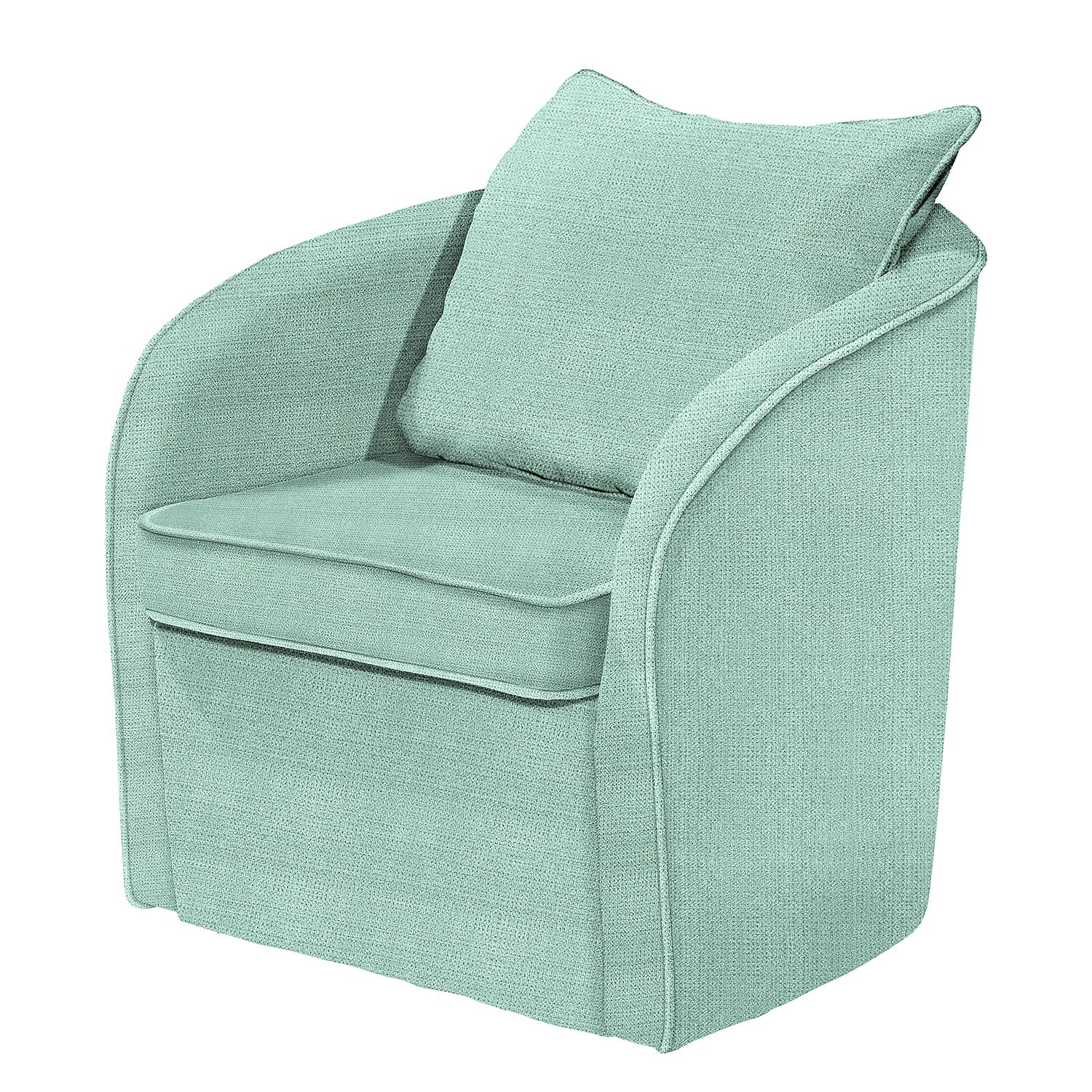 Fauteuil Marcy - Tissu - Vert menthe, mooved