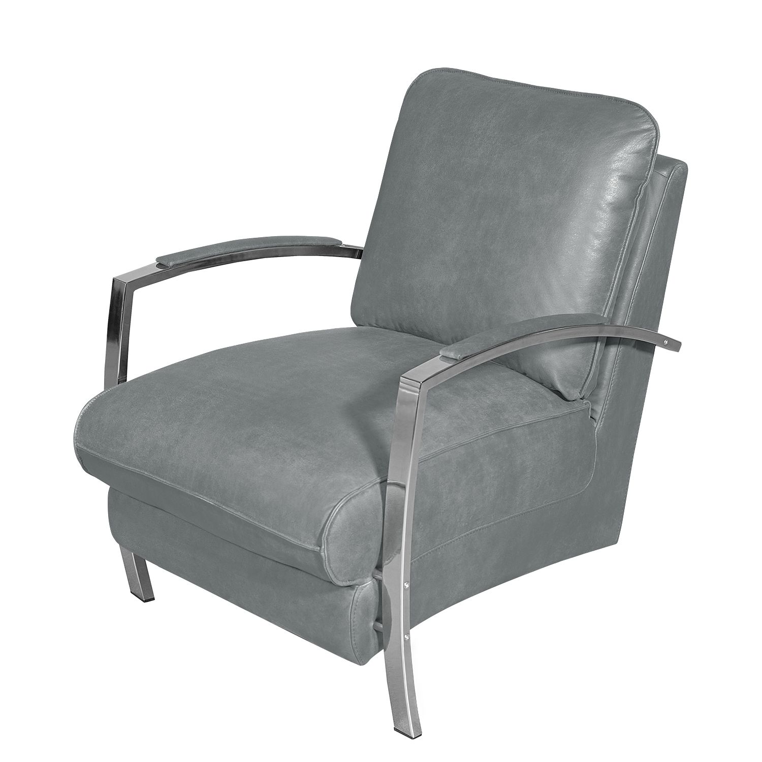 Fauteuil Marques - Imitation cuir - Gris, Red Living
