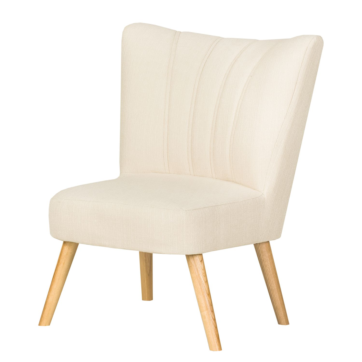 Fauteuil Oona I - Tissu Beige - Crème, kollected by Johanna
