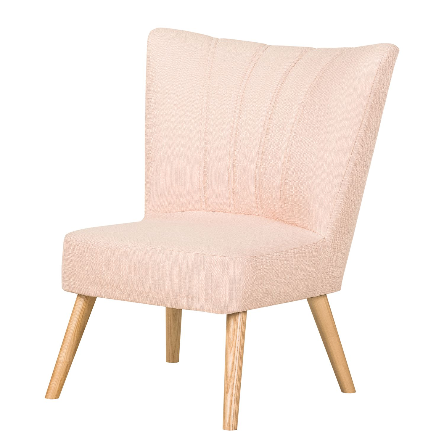 Fauteuil Oona I - Tissu Beige - Couleur pastel abricot, Morteens