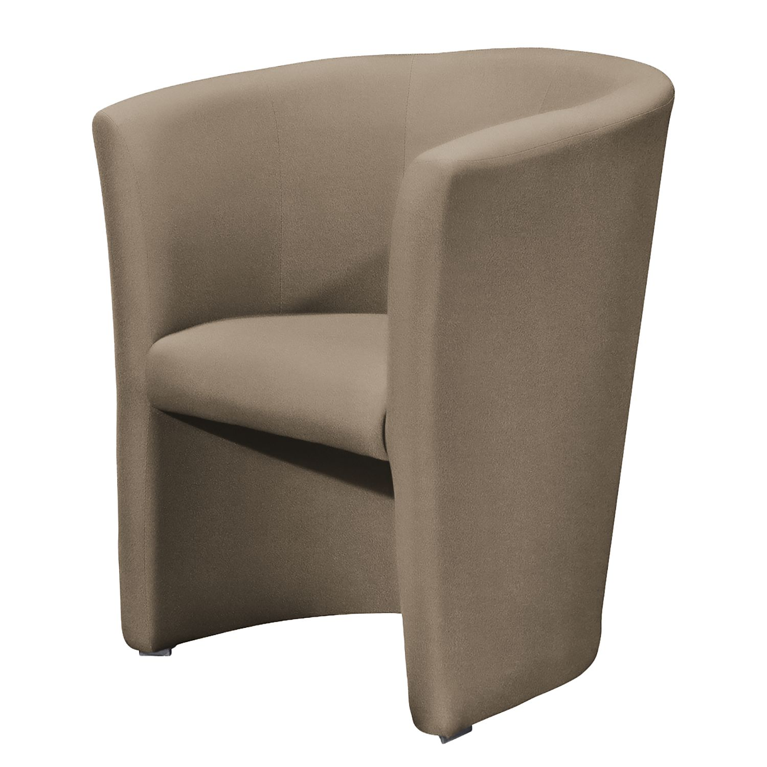 Fauteuil Sinclair - Microfibre - Taupe, mooved