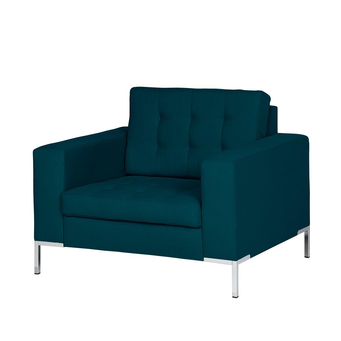 Fauteuil Nistra - Tissu bleu / vert, Fredriks