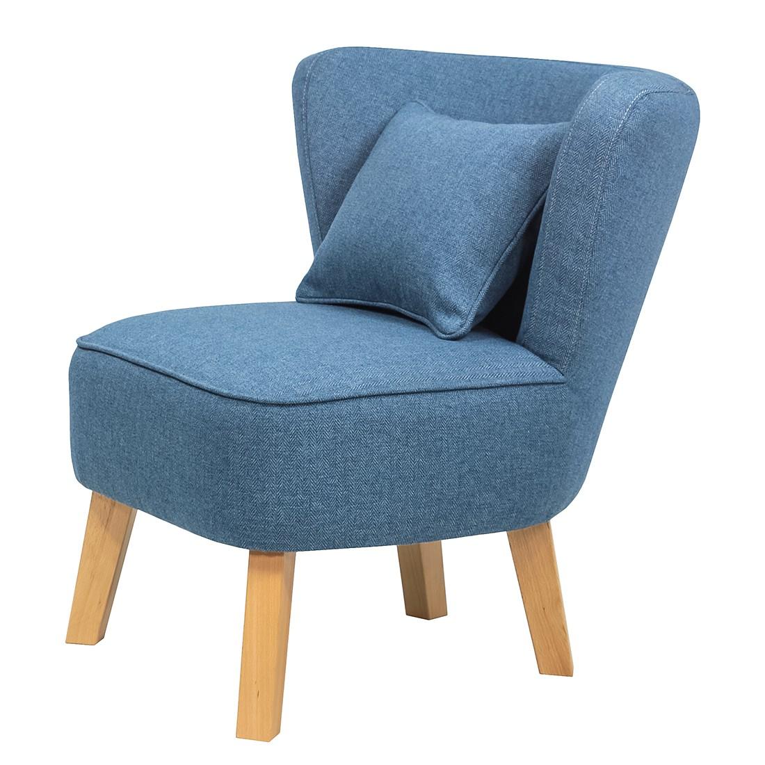Fauteuil Oistins - Tissu - Bleu, Morteens