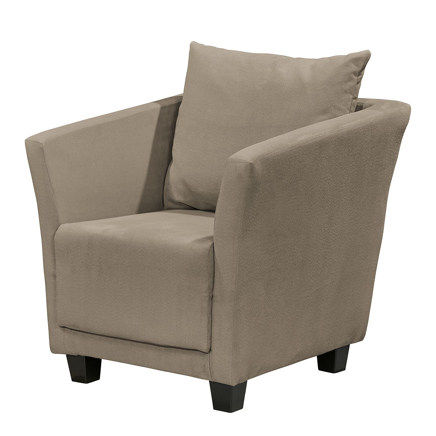 Fauteuil Ondara - Microfibre - Taupe, mooved