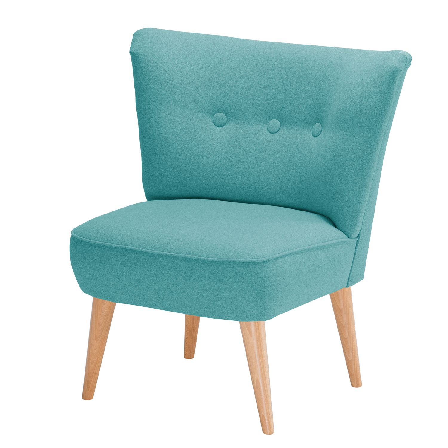 Fauteuil Bumberry I vilt - Turquoise, Morteens