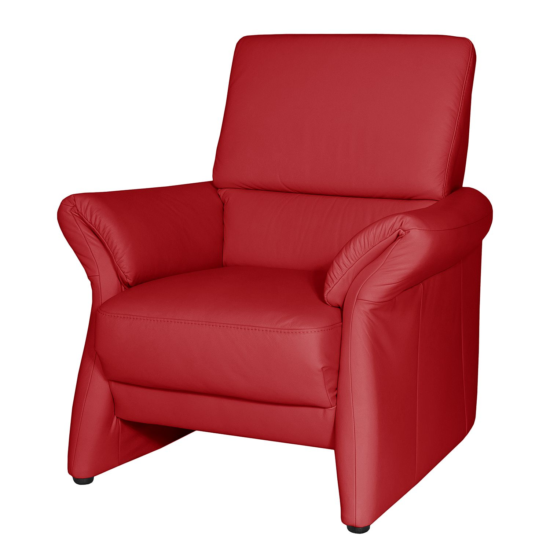 Fauteuil Patay Cuir véritable - Rouge cerise, Nuovoform