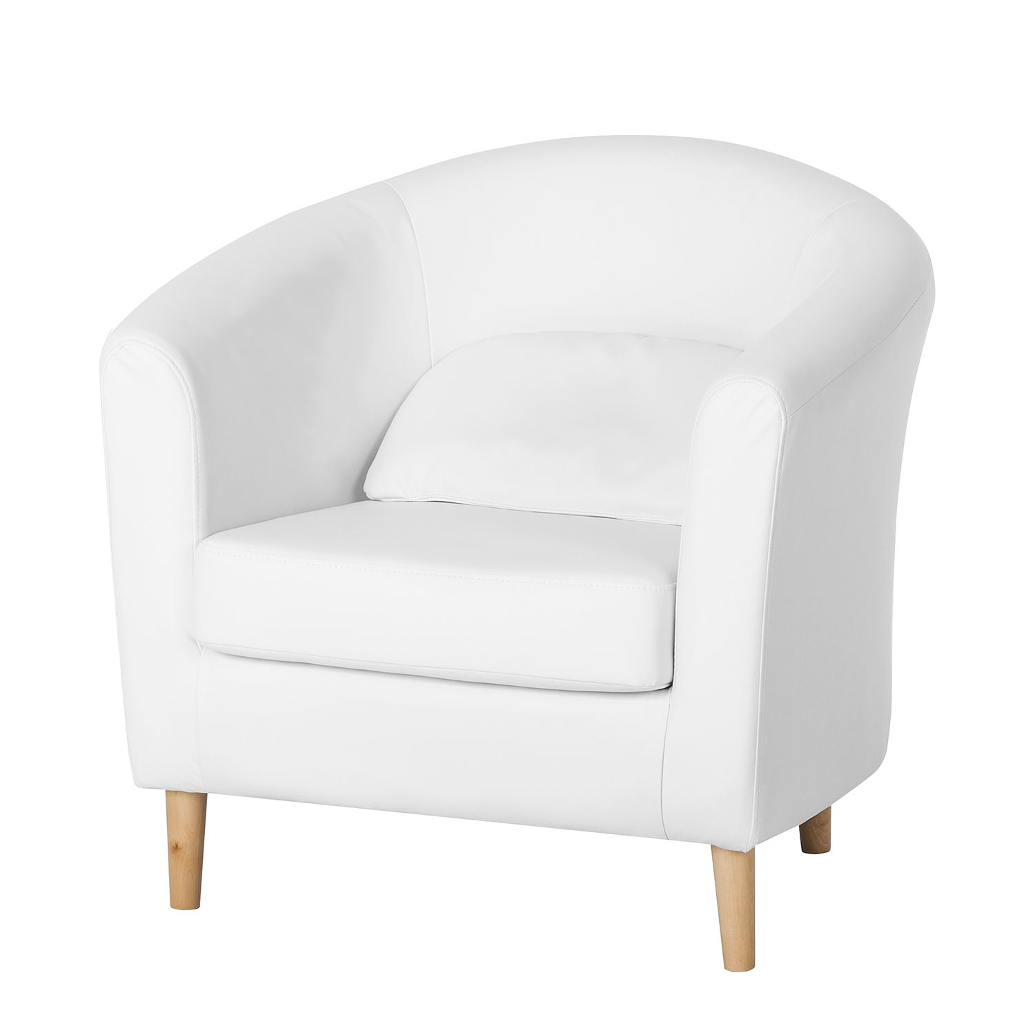 Fauteuil Philipp - Cuir synthétique blanc, mooved