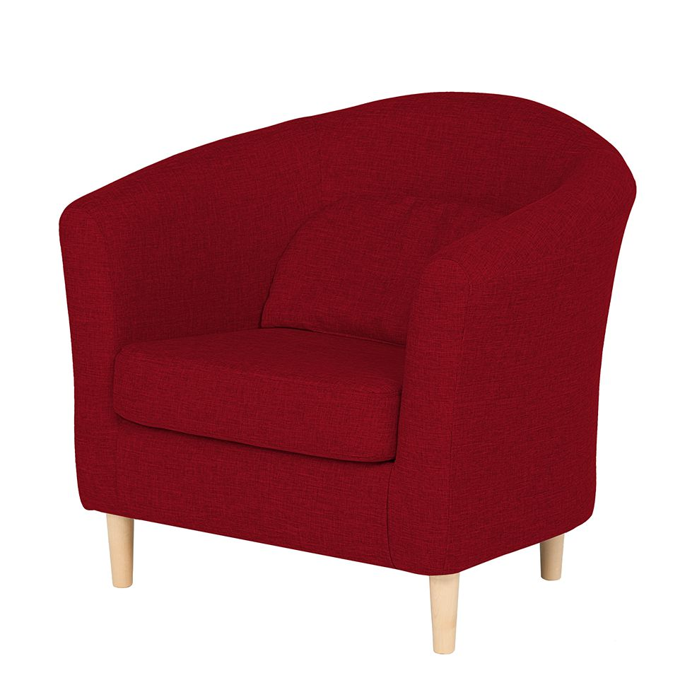 Fauteuil Philipp - Tissu rouge, mooved