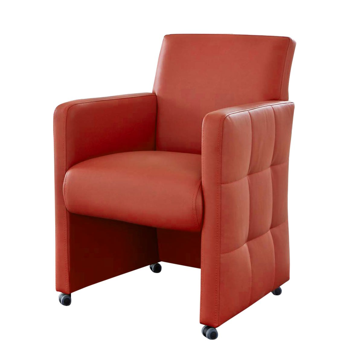 Fauteuil Pitalito - Imitation cuir - Rouge, roomscape