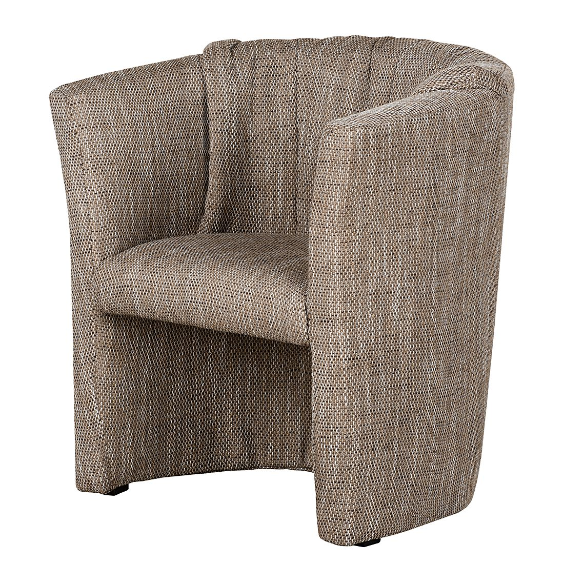 Home 24 - Fauteuil rex - tissu structuré cappuccino, mooved