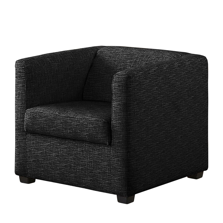 Fauteuil Richmond - Tissu structuré - Noir profond, Home Design