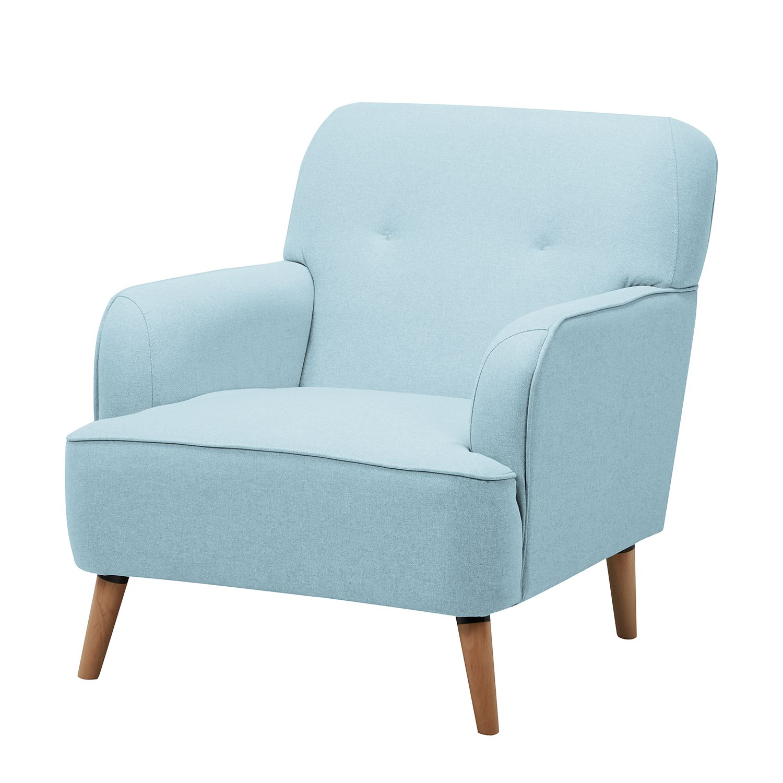 Fauteuil Rickman - Microfibre - Bleu pastel, mooved