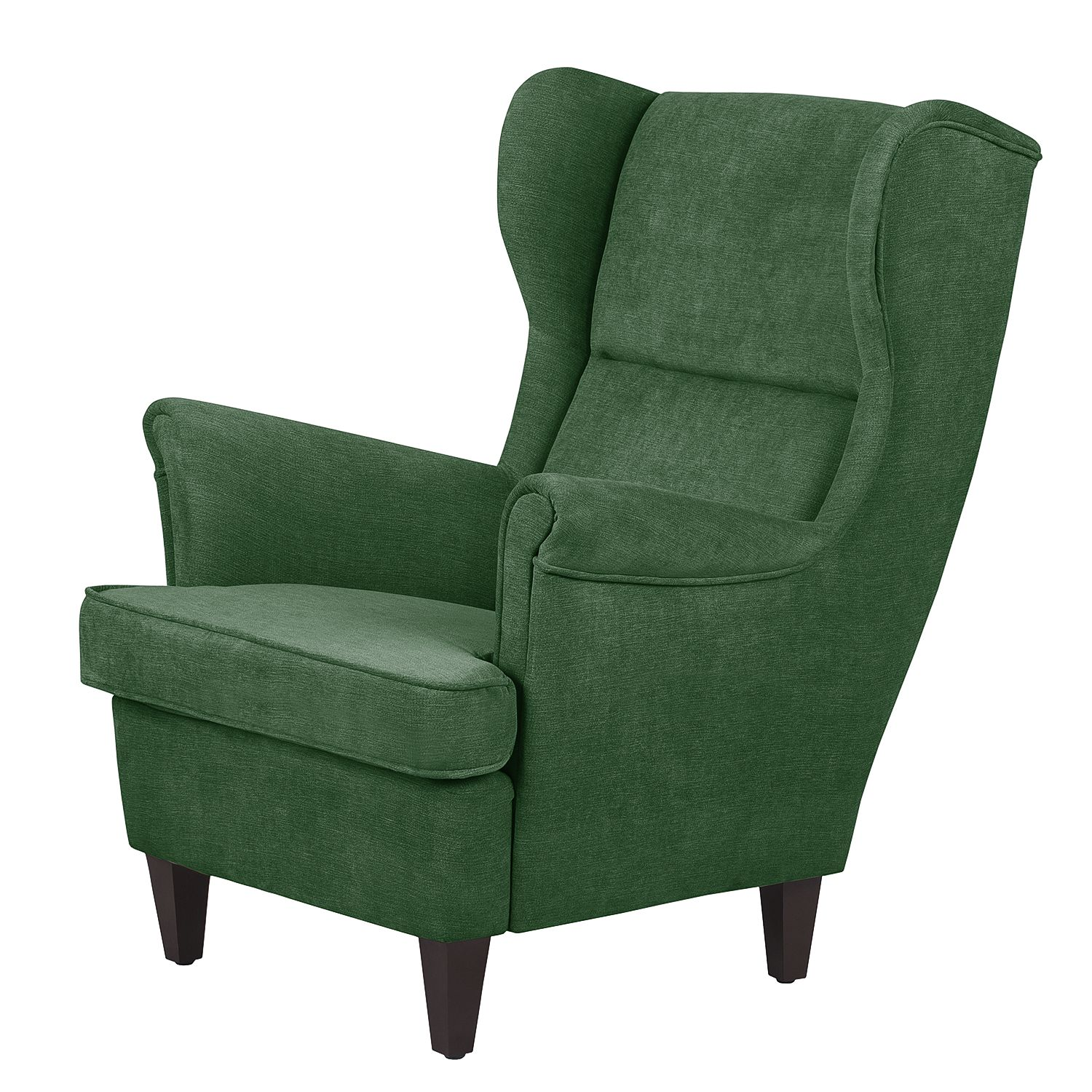 Fauteuil Roma - Microfibre - Vert olive, Jack and Alice