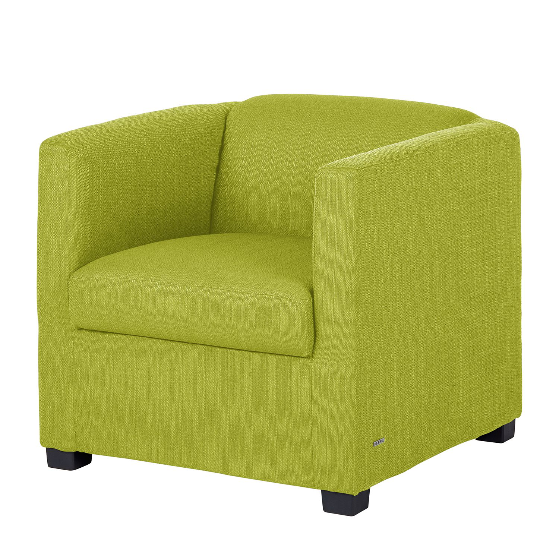 Fauteuil Savja - Tissu - Boxspring - Vert clair, Home Design