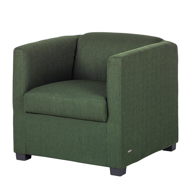Fauteuil Savja - Tissu - Mousse - Vert, Home Design
