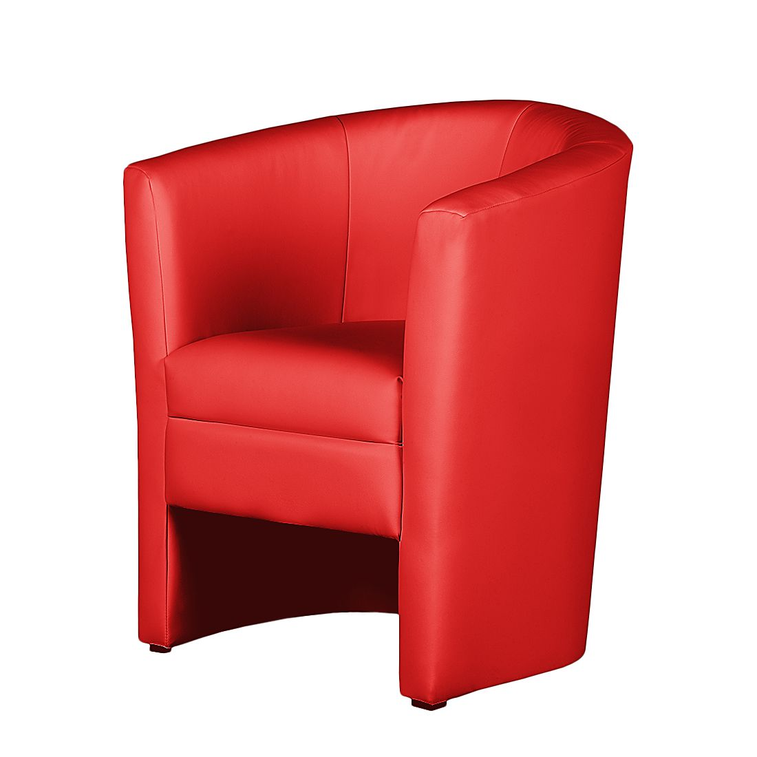 Fauteuil Sinclair I - Imitation cuir - Rouge, mooved
