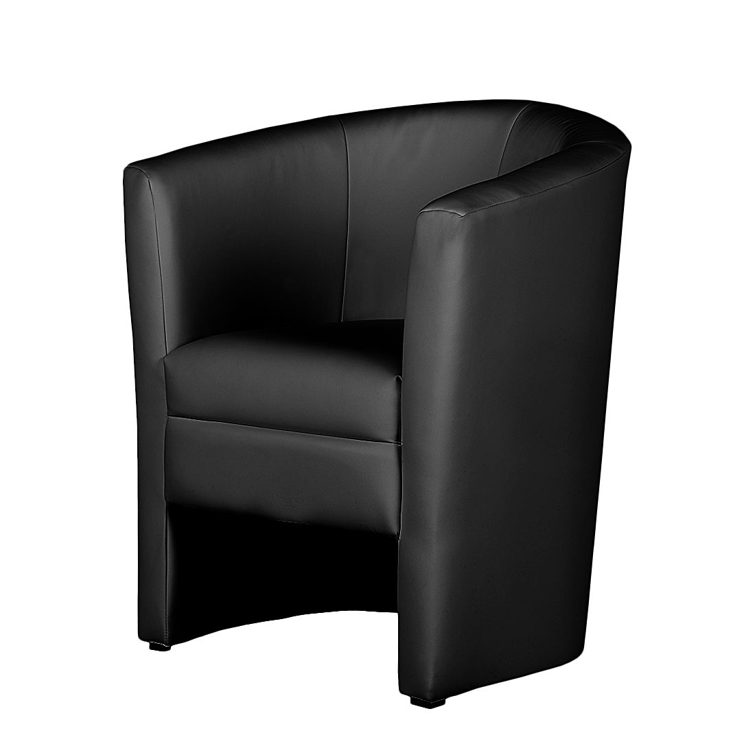 Home 24 - Fauteuil sinclair iii - cuir synthétique noir, mooved