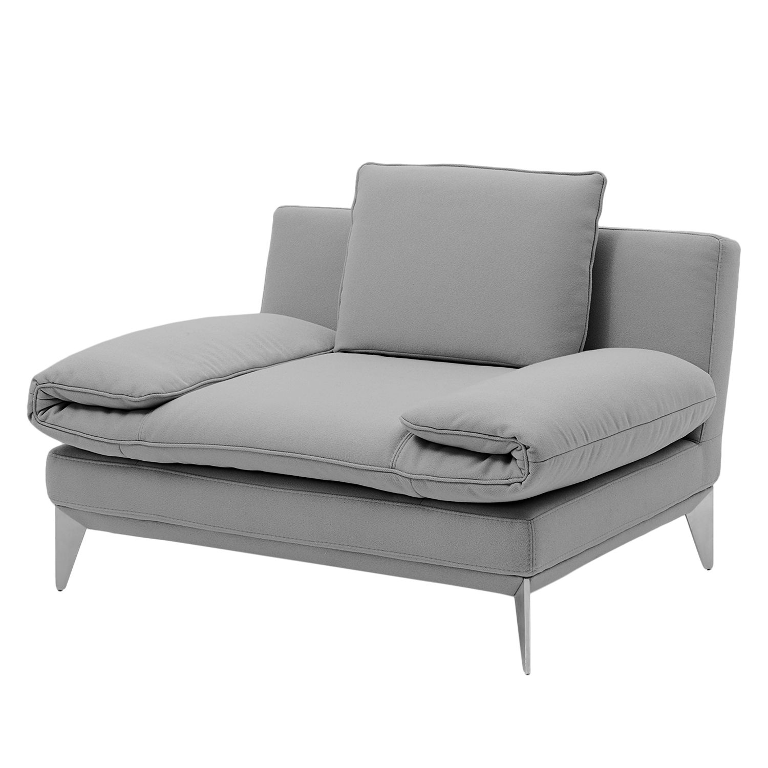 Fauteuil Smoky Bay - Tissu - Platine - Accoudoirs réglables, Fredriks