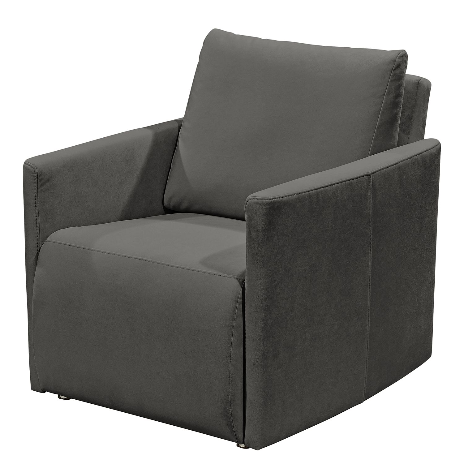 Fauteuil Tancon - Tissu - Anthracite, mooved