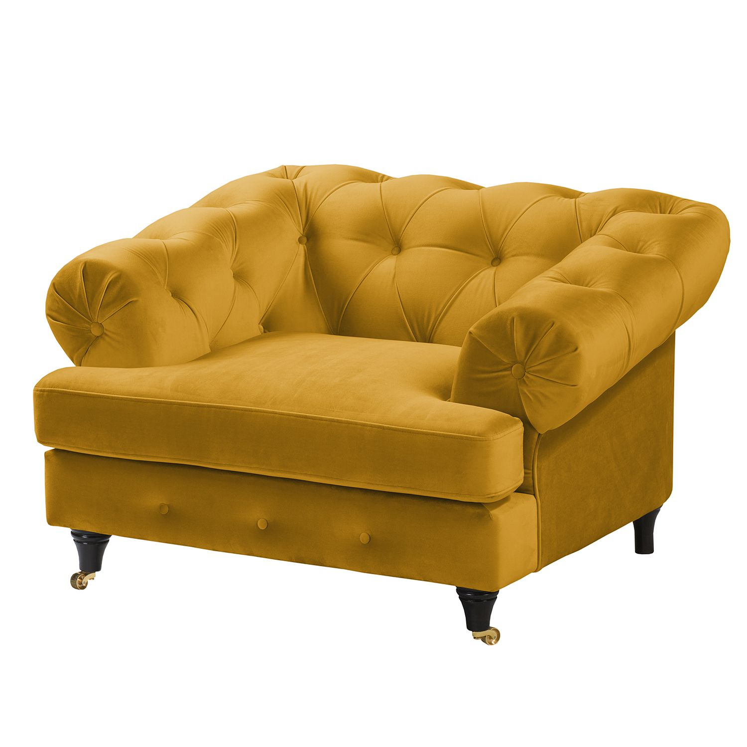 fauteuil thory velours jaune moutarde jack and alice unbeaujouravecvous. Black Bedroom Furniture Sets. Home Design Ideas