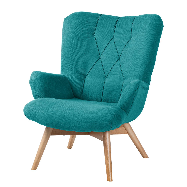 Fauteuil Tias - Tissu - Turquoise, Morteens
