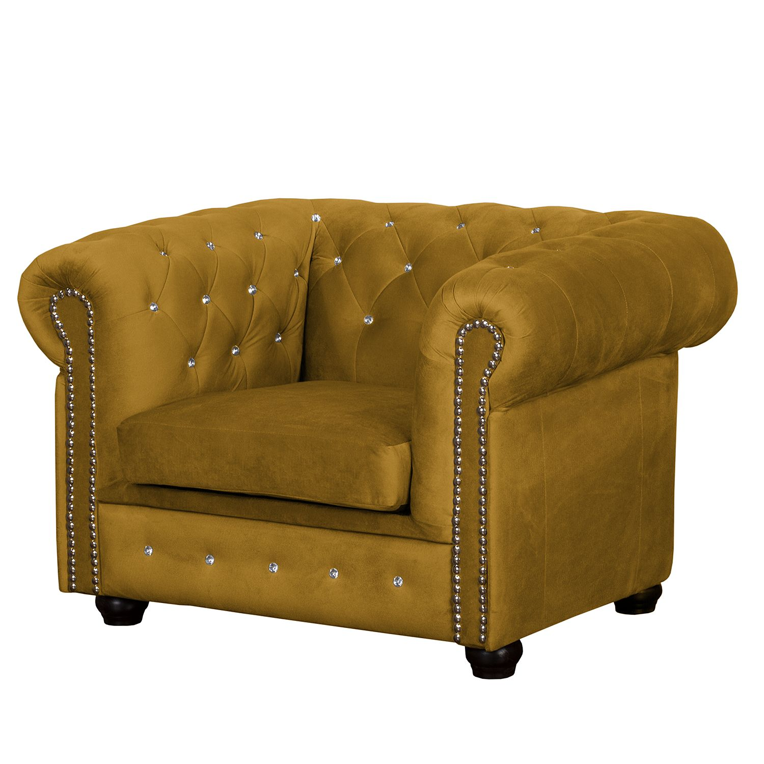 Fauteuil Torquay I - Microfibre - Jaune moutarde, Jack and Alice