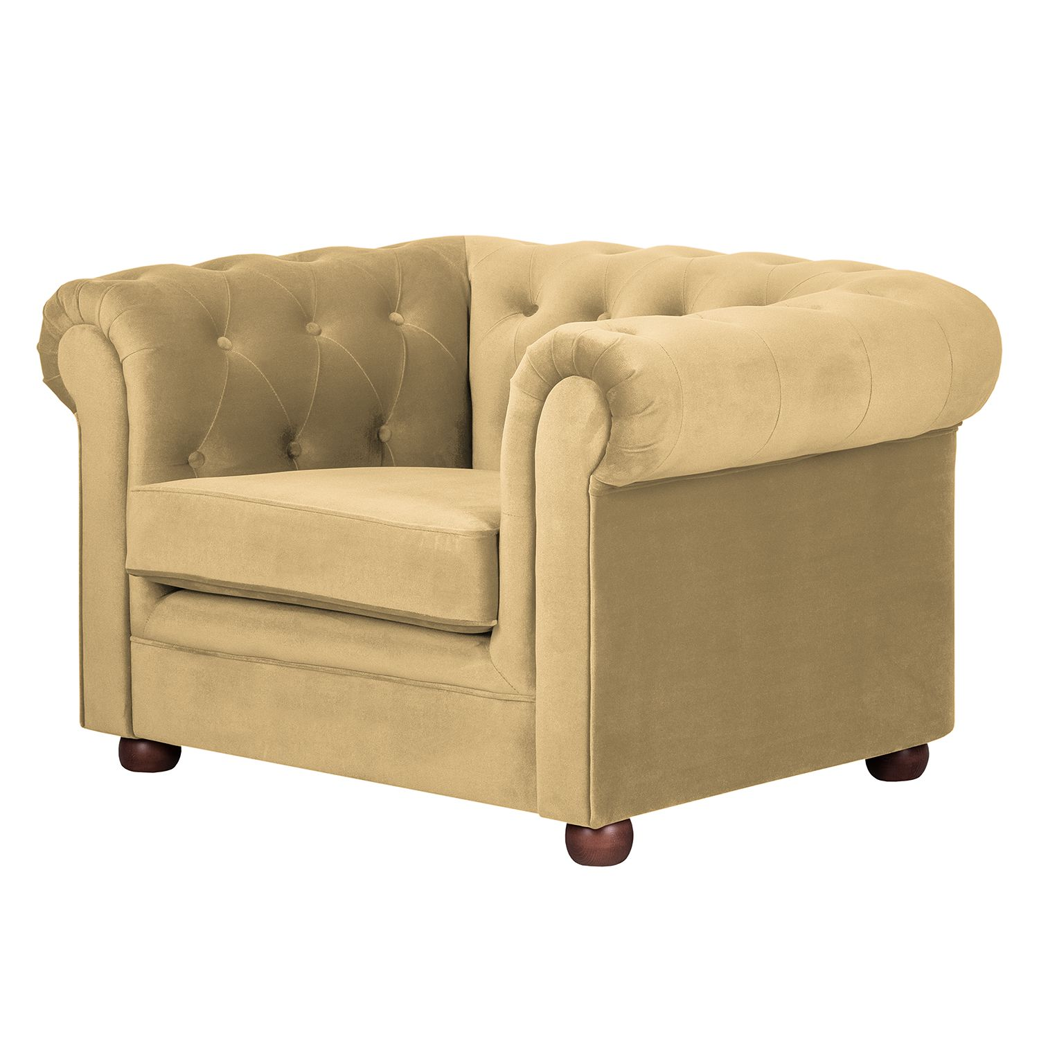 Fauteuil Upperclass - Velours - Beige, Jack and Alice