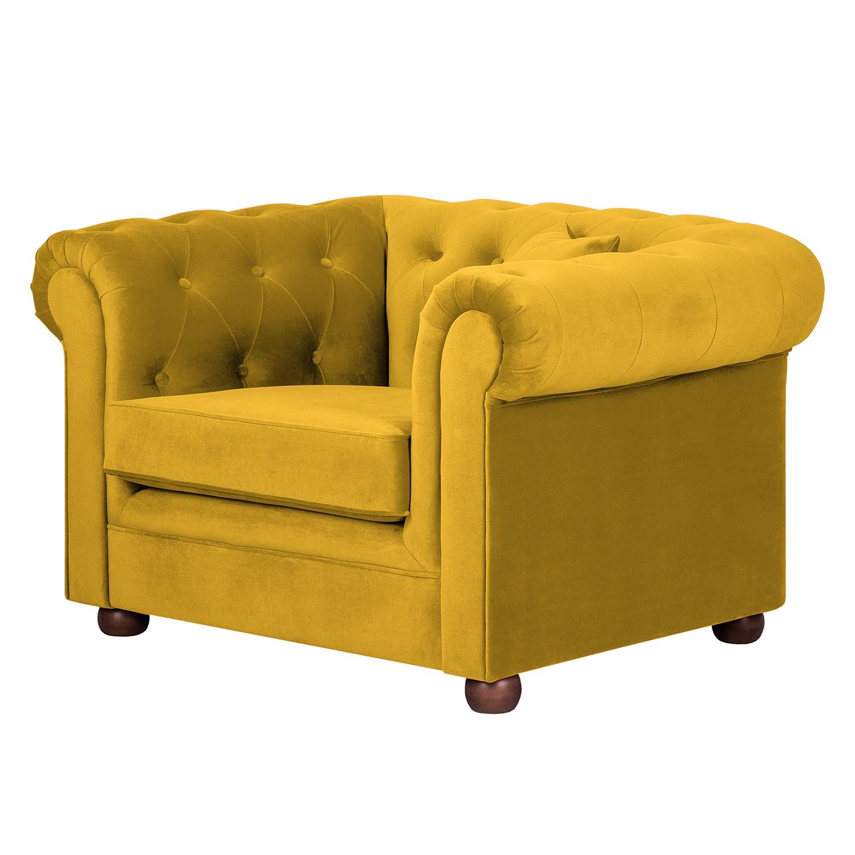 Fauteuil geel kopen online internetwinkel - Geel fluweel ...