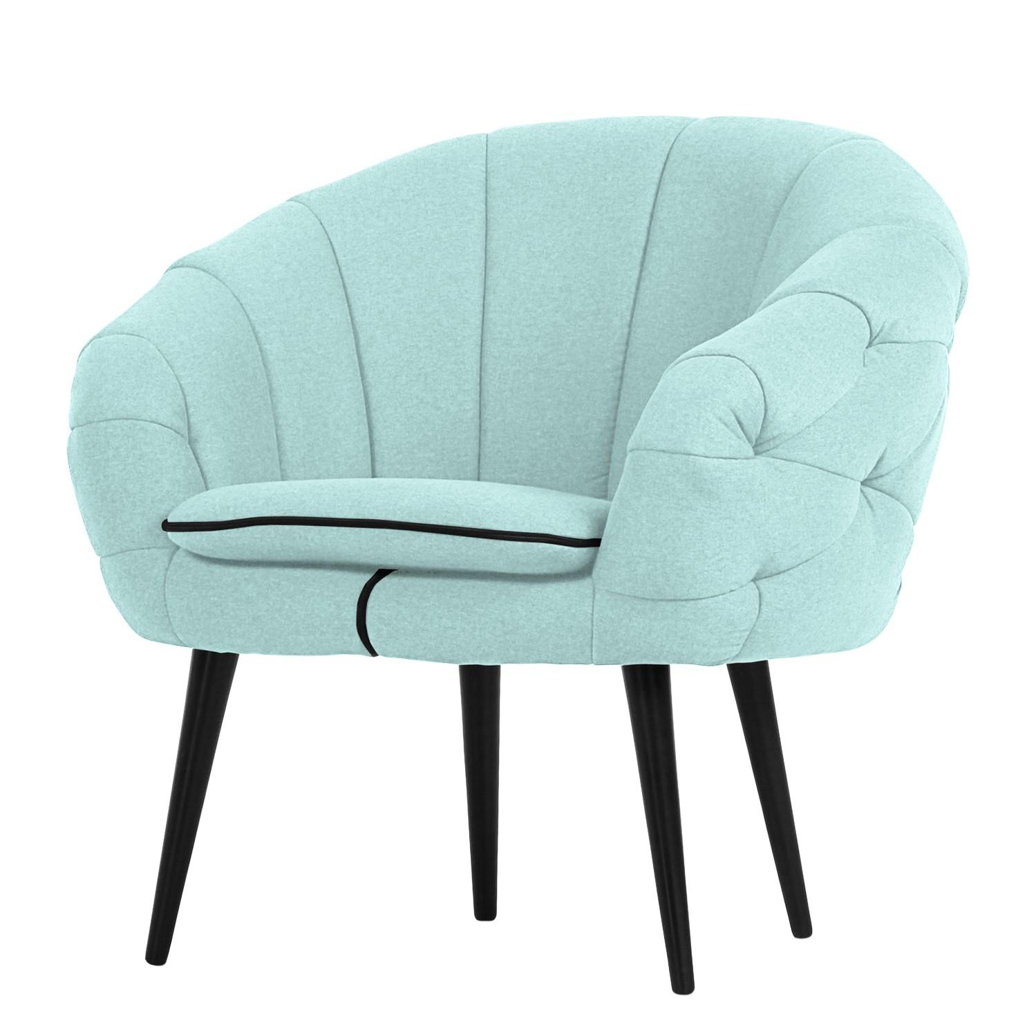 Fauteuil Weilar - Tissu - Bleu pastel, loftscape