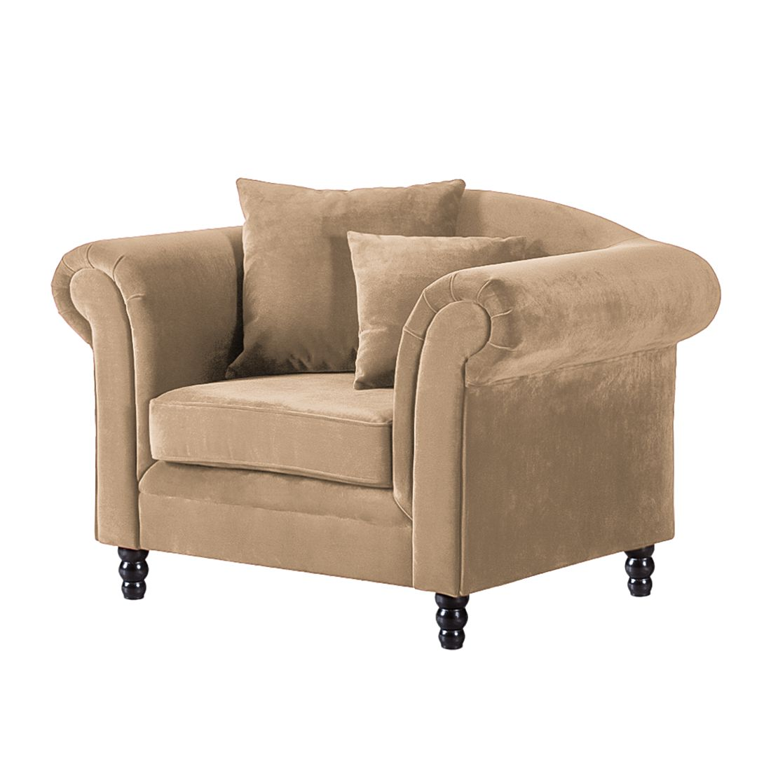 Fauteuil York - Velours beige, Jack and Alice