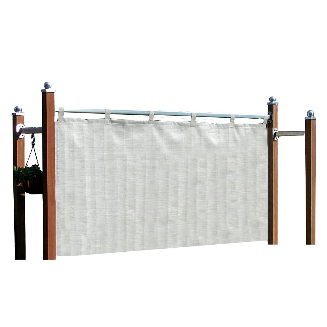 Sicht- und Windschutz Royal - Eukalyptus massiv/Kunststoff - Grau, Leco