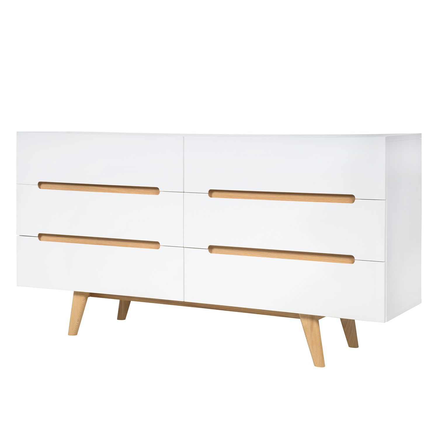 sideboard allium i esche teilmassiv hochglanz wei esche g nstig online kaufen. Black Bedroom Furniture Sets. Home Design Ideas