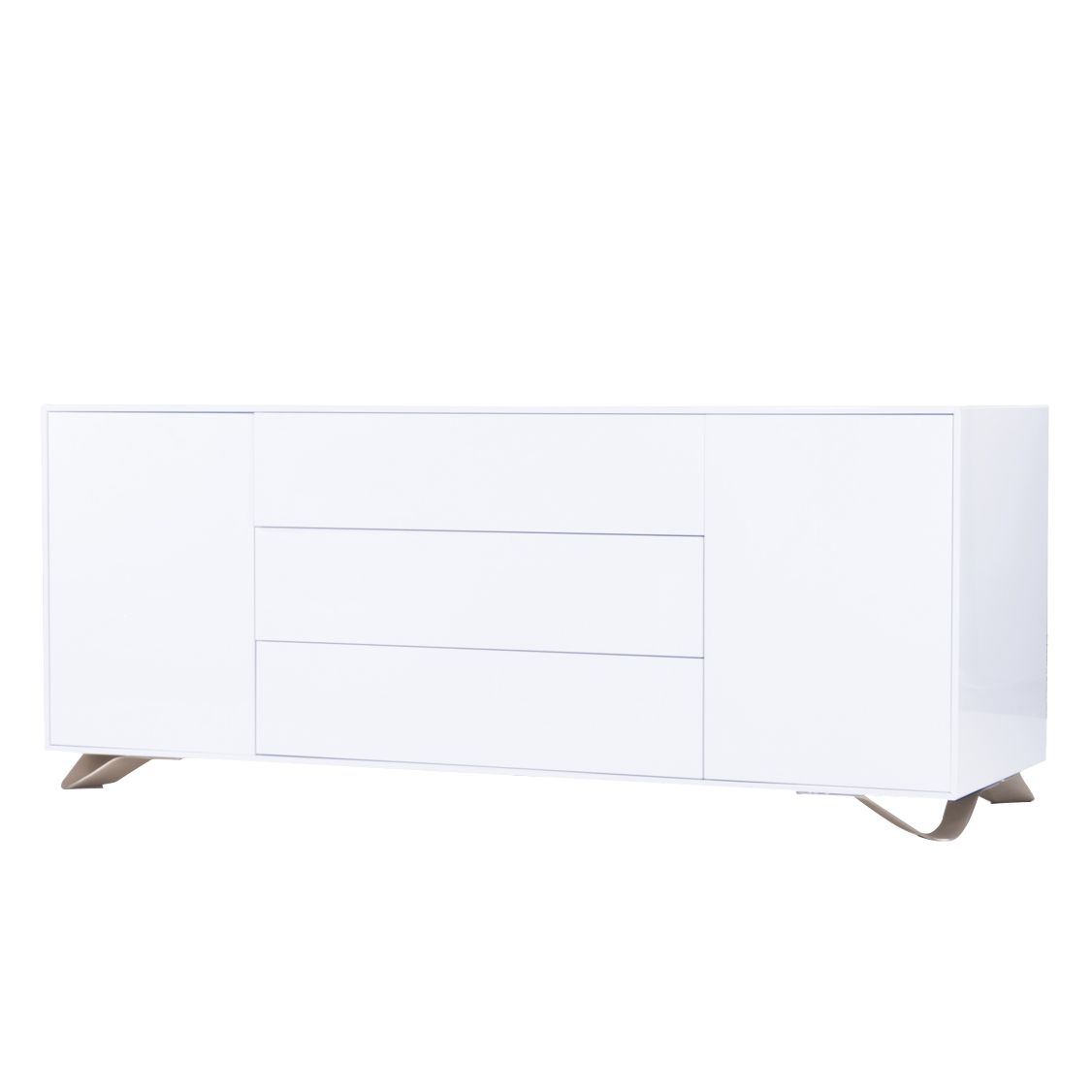 sideboard boomerang hochglanz wei studio copenhagen g nstig bestellen. Black Bedroom Furniture Sets. Home Design Ideas