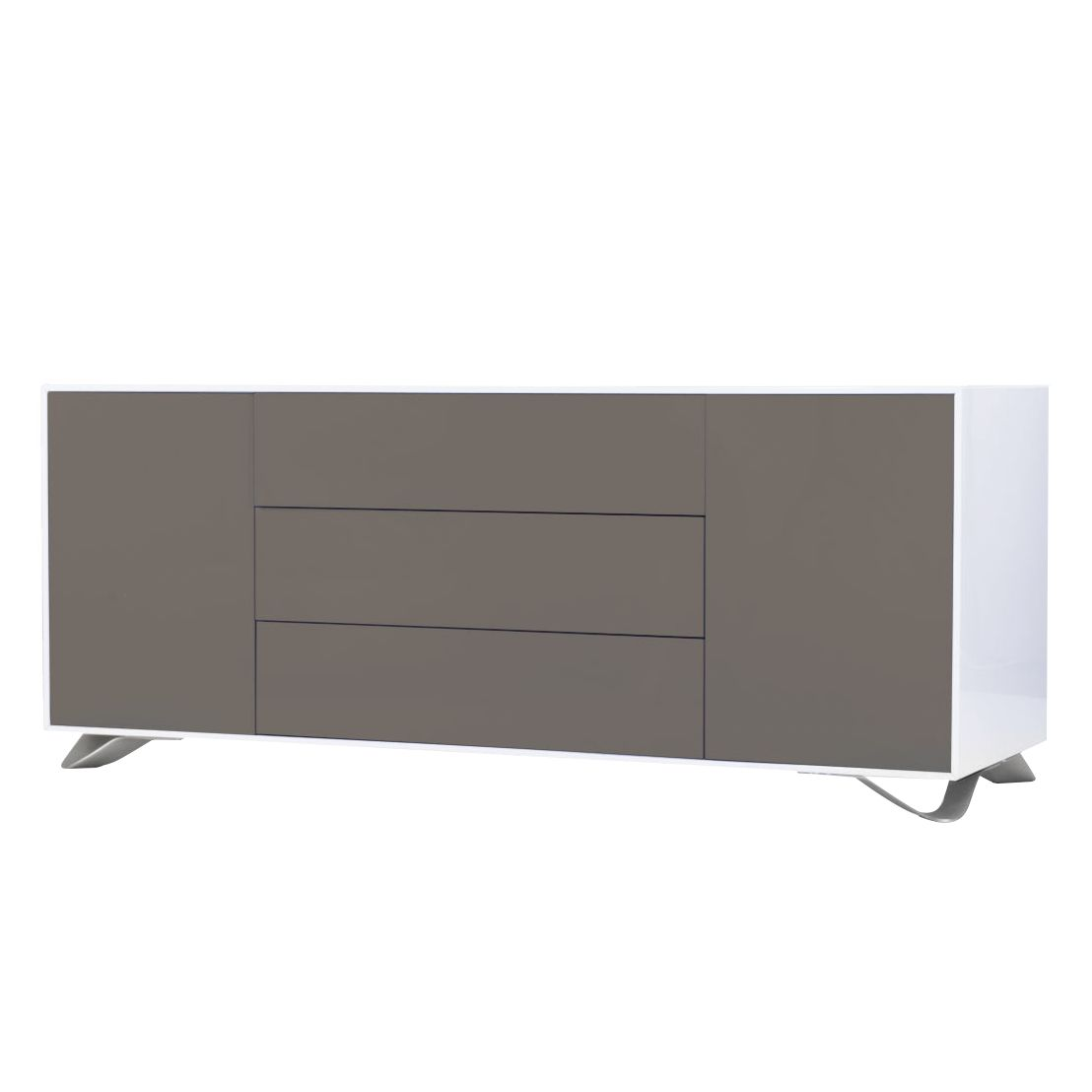 sideboard boomerang hochglanz wei grau jetzt kaufen. Black Bedroom Furniture Sets. Home Design Ideas