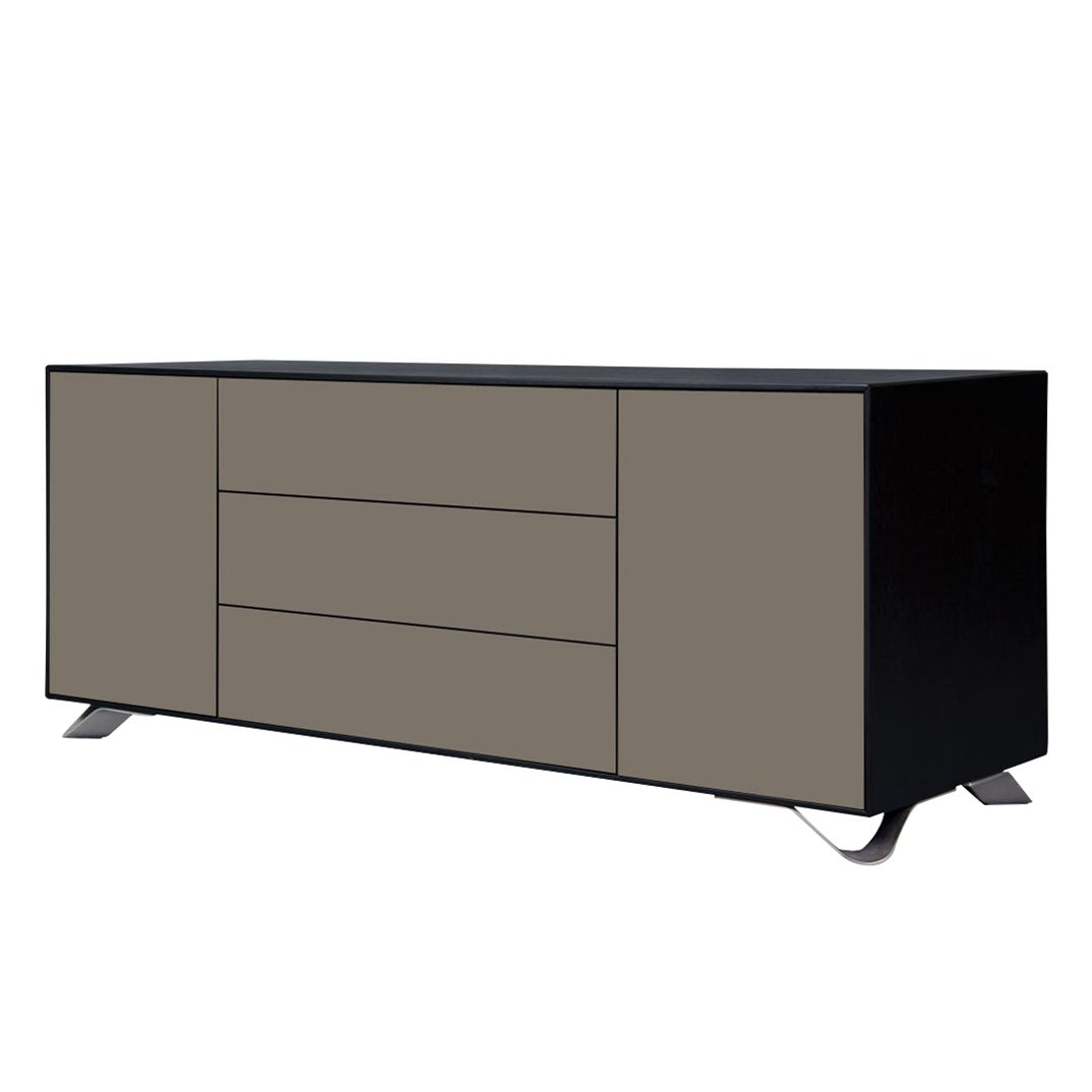 sideboard boomerang grau schwarz g nstig kaufen. Black Bedroom Furniture Sets. Home Design Ideas