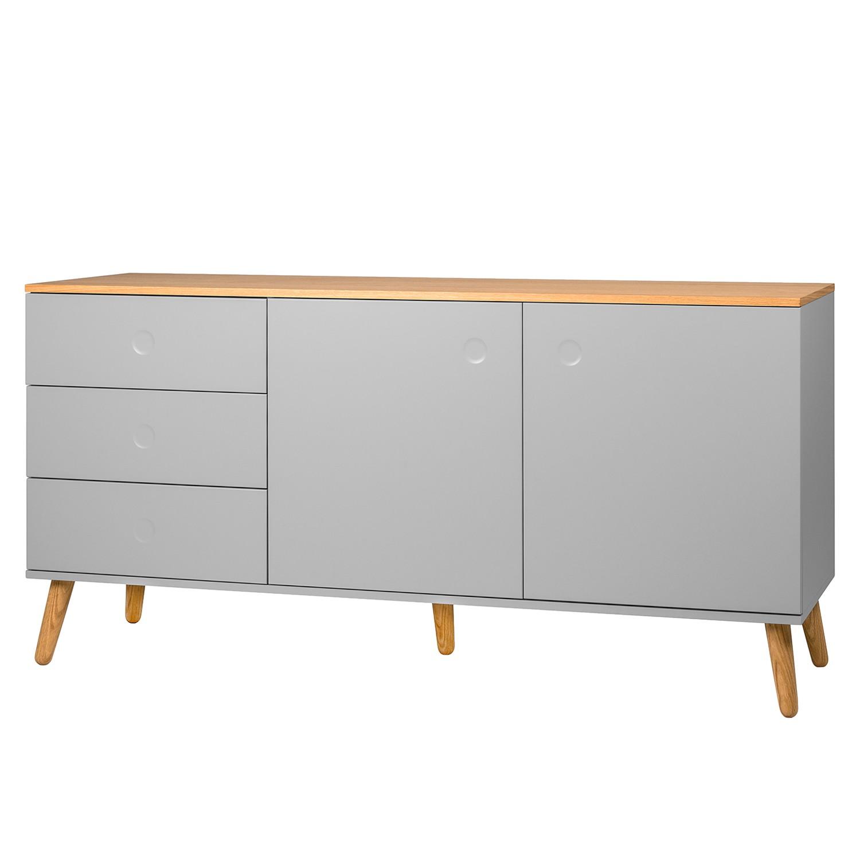 sideboard dot i eiche teilmassiv grau tenzo online bestellen. Black Bedroom Furniture Sets. Home Design Ideas