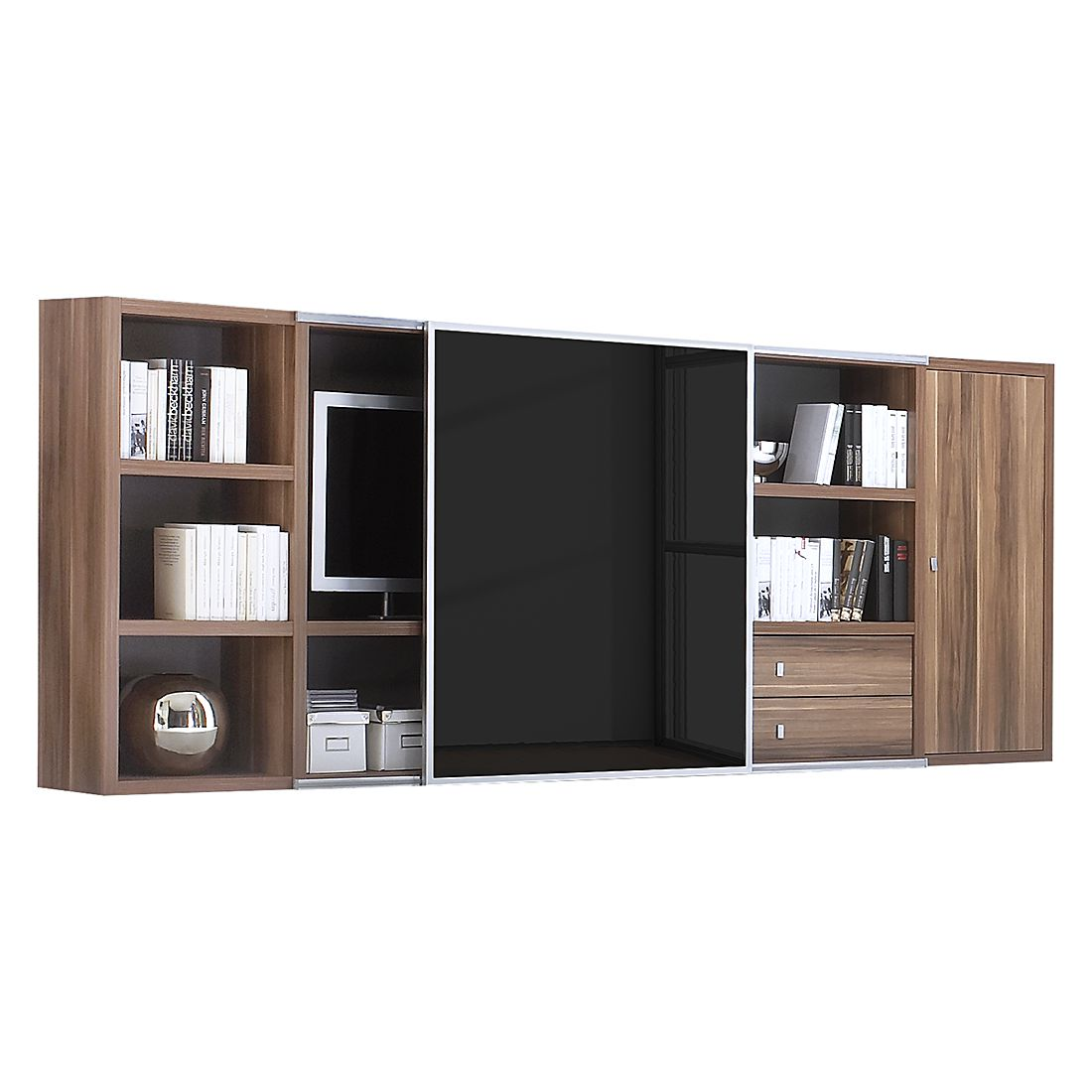 sideboard baltimore walnuss preisvergleich die besten angebote online kaufen. Black Bedroom Furniture Sets. Home Design Ideas