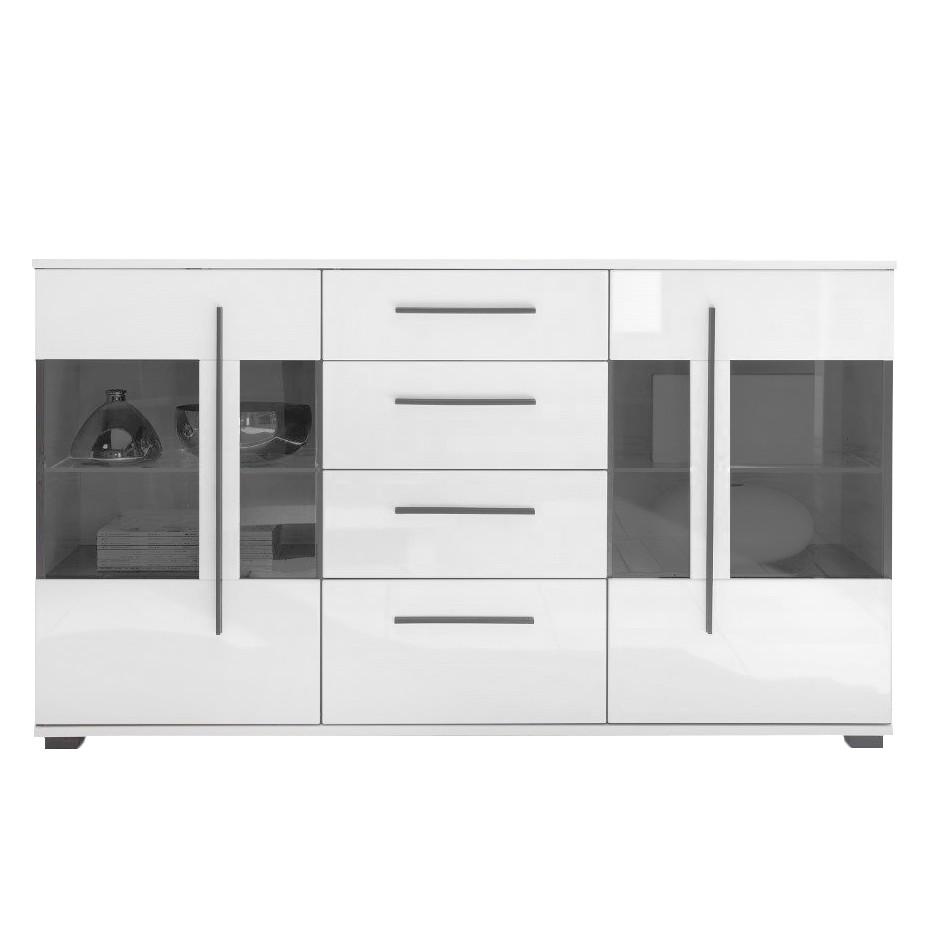 Sideboard Farson - Hochglanz Weiß / Weiß, roomscape
