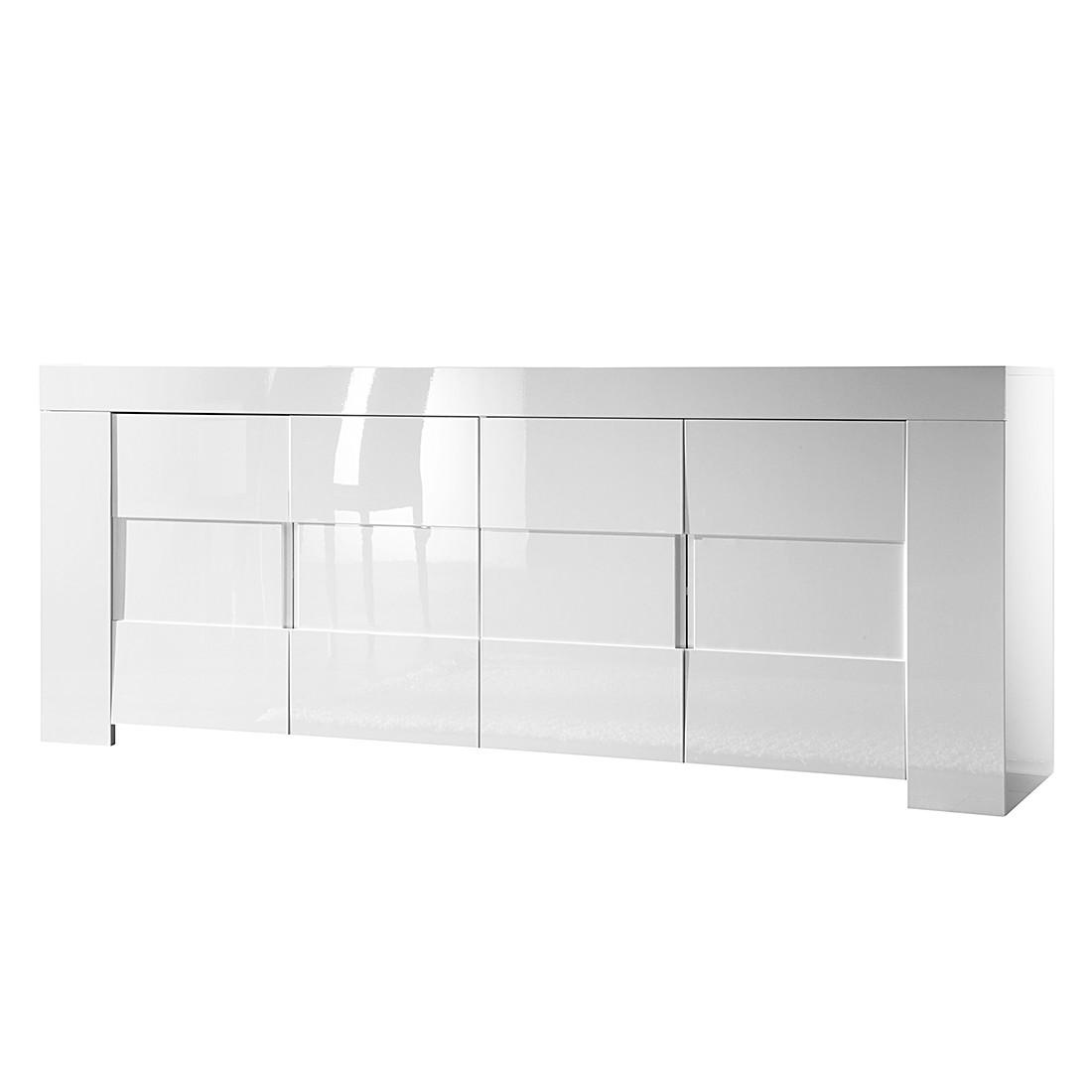 Sideboard Gladiolo - Hochglanz Weiß / Weiß, Lc Mobili
