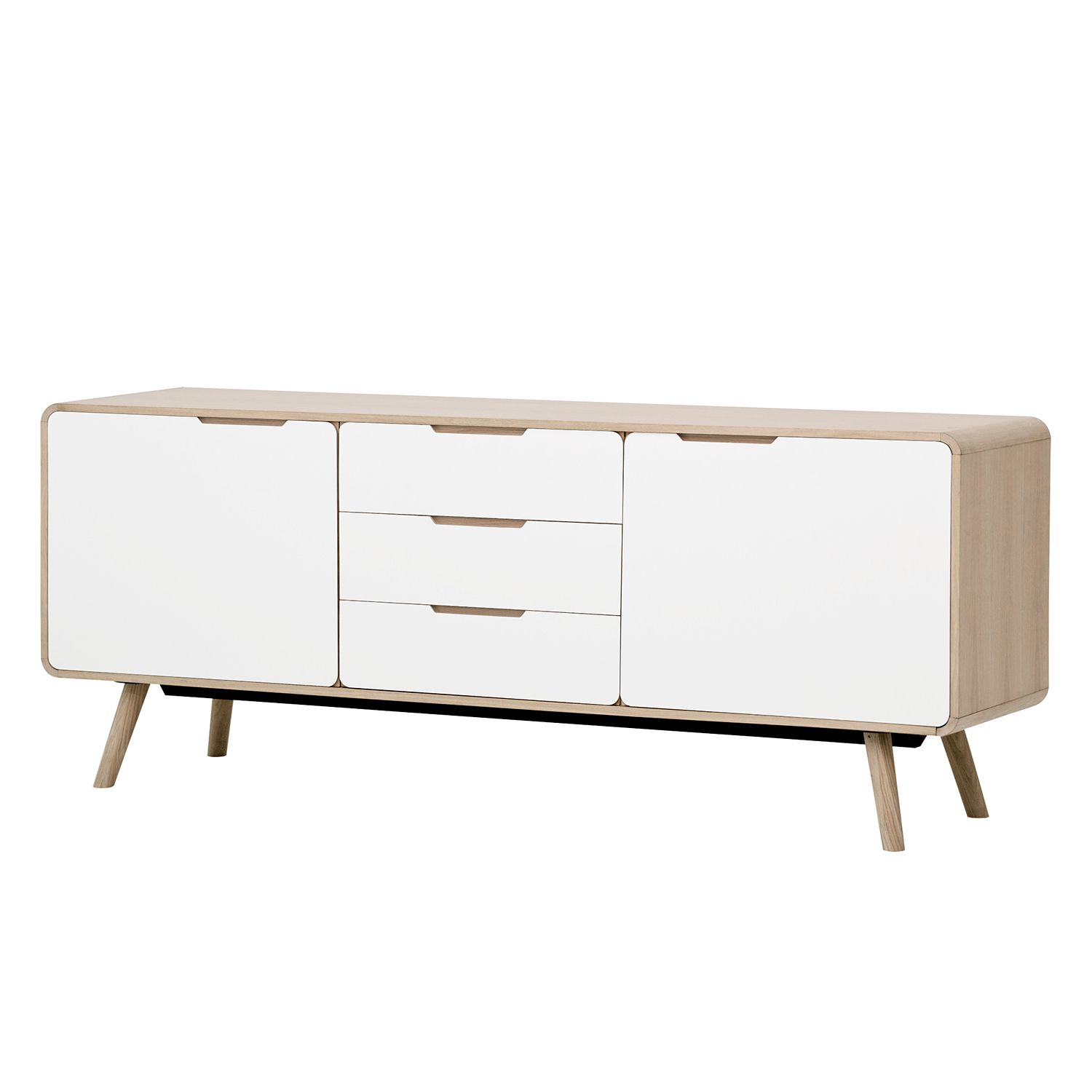 sideboard helvig i eiche wei g nstig online kaufen. Black Bedroom Furniture Sets. Home Design Ideas