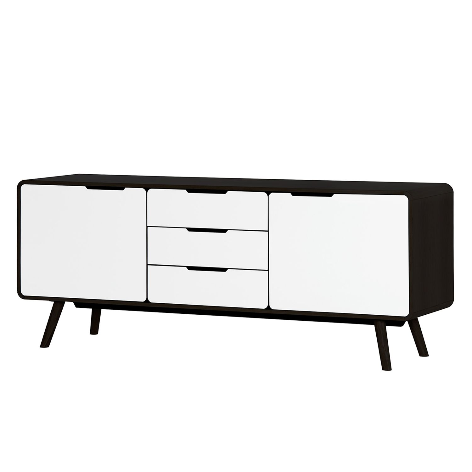 sideboard helvig i schwarz wei kaufen. Black Bedroom Furniture Sets. Home Design Ideas