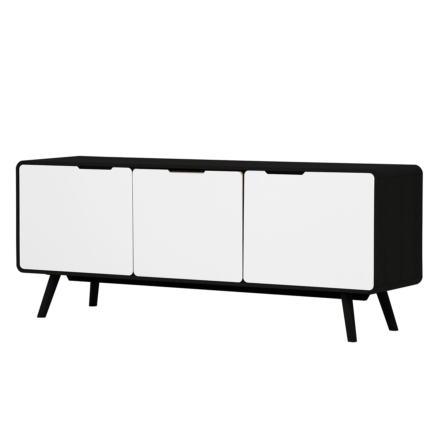sideboard helvig ii schwarz wei g nstig. Black Bedroom Furniture Sets. Home Design Ideas