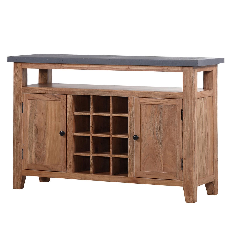 m bel sideboard jobrin akazie massiv kunstharz akazie zementgrau furnlab. Black Bedroom Furniture Sets. Home Design Ideas