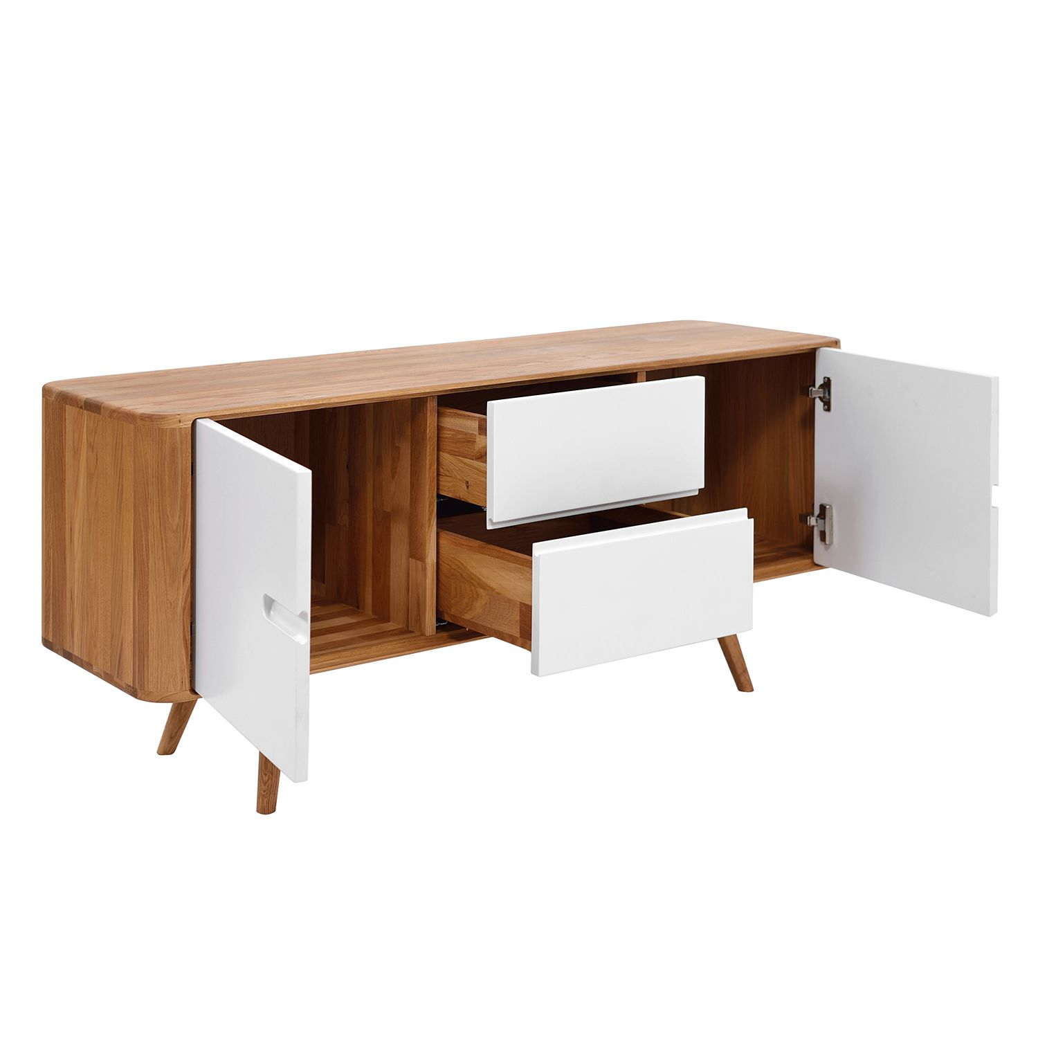Sideboard wildeiche cool massivholz sideboard sascora aus for Sideboard wildeiche