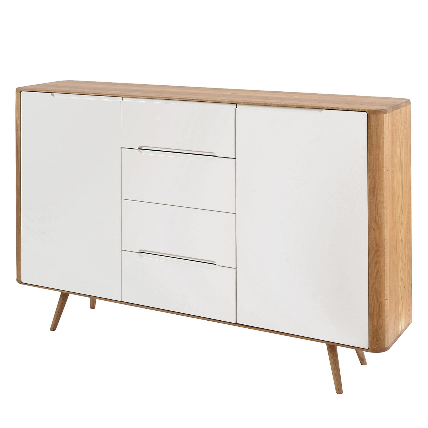 sideboard loca ii eiche teilmassiv wei wildeiche 180 cm jetzt kaufen. Black Bedroom Furniture Sets. Home Design Ideas