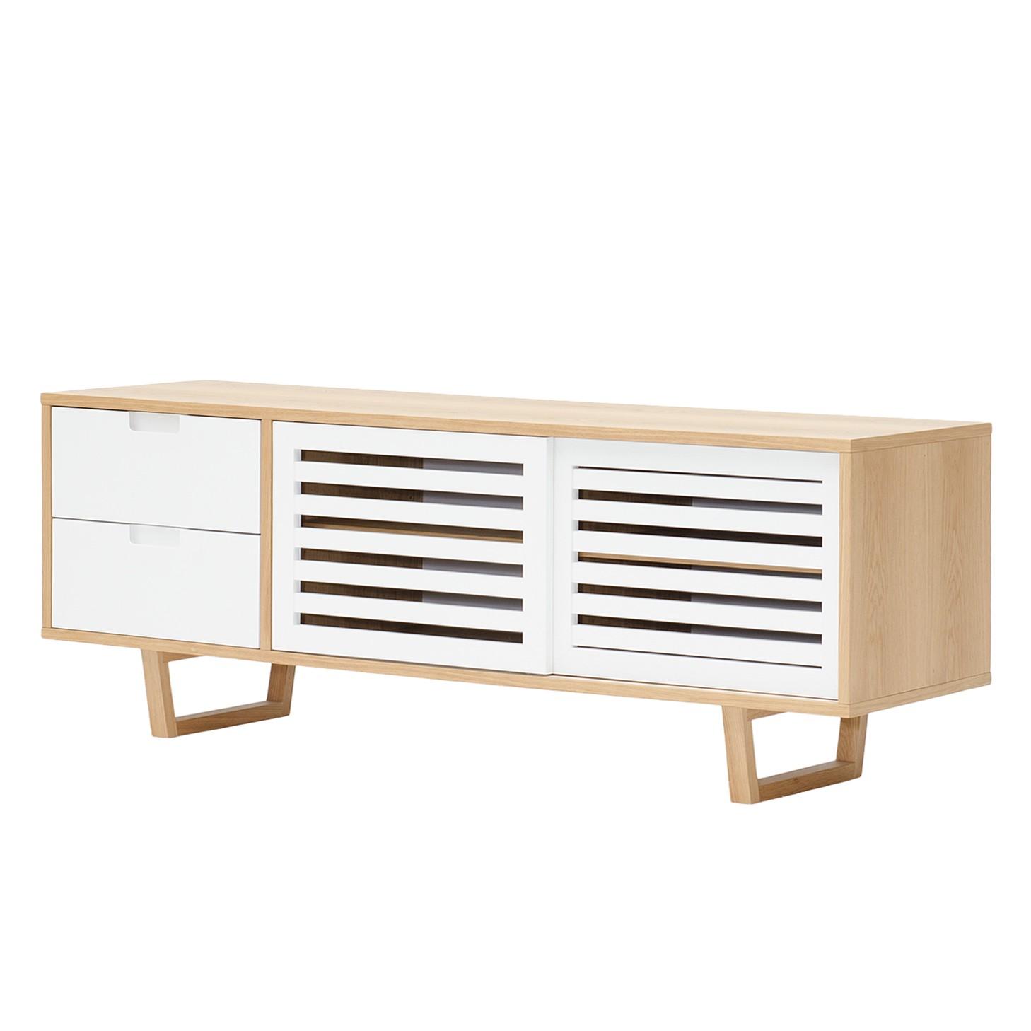 sideboard loke eiche teilmassiv eiche wei bestellen. Black Bedroom Furniture Sets. Home Design Ideas