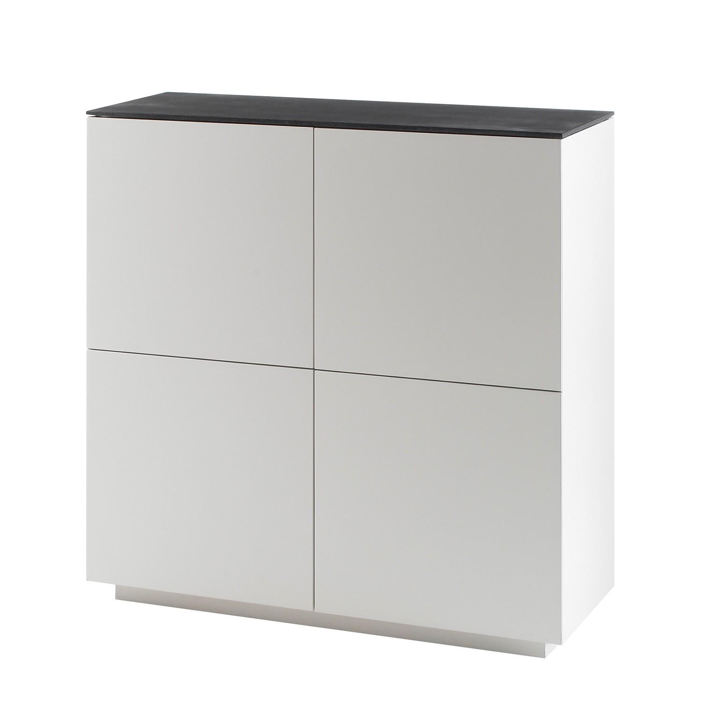 highboard milton i matt wei steingrau loftscape bestellen. Black Bedroom Furniture Sets. Home Design Ideas