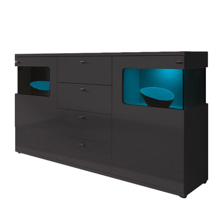 sideboard monk hochglanz grau roomscape g nstig bestellen. Black Bedroom Furniture Sets. Home Design Ideas