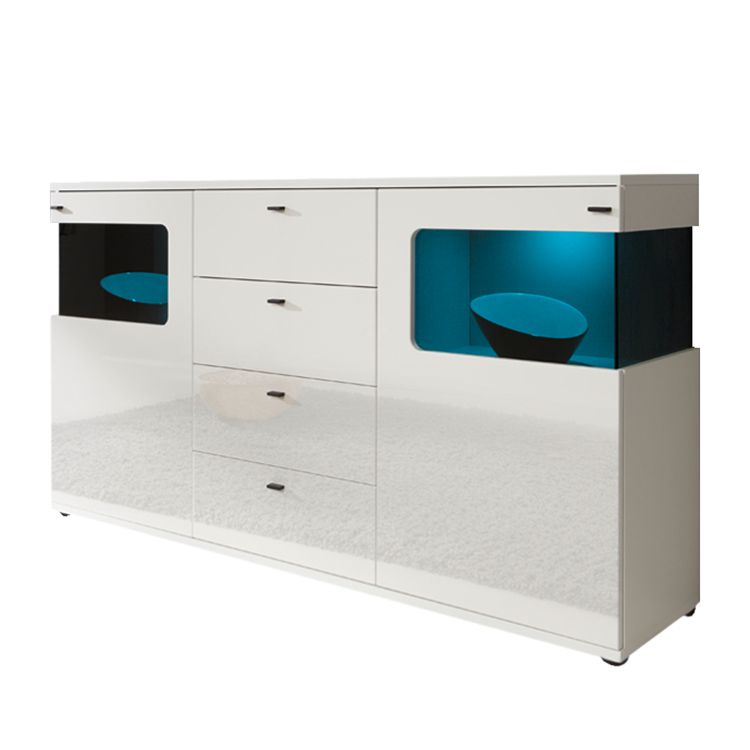 sideboard weiss hochglanz 180 cm preisvergleiche. Black Bedroom Furniture Sets. Home Design Ideas