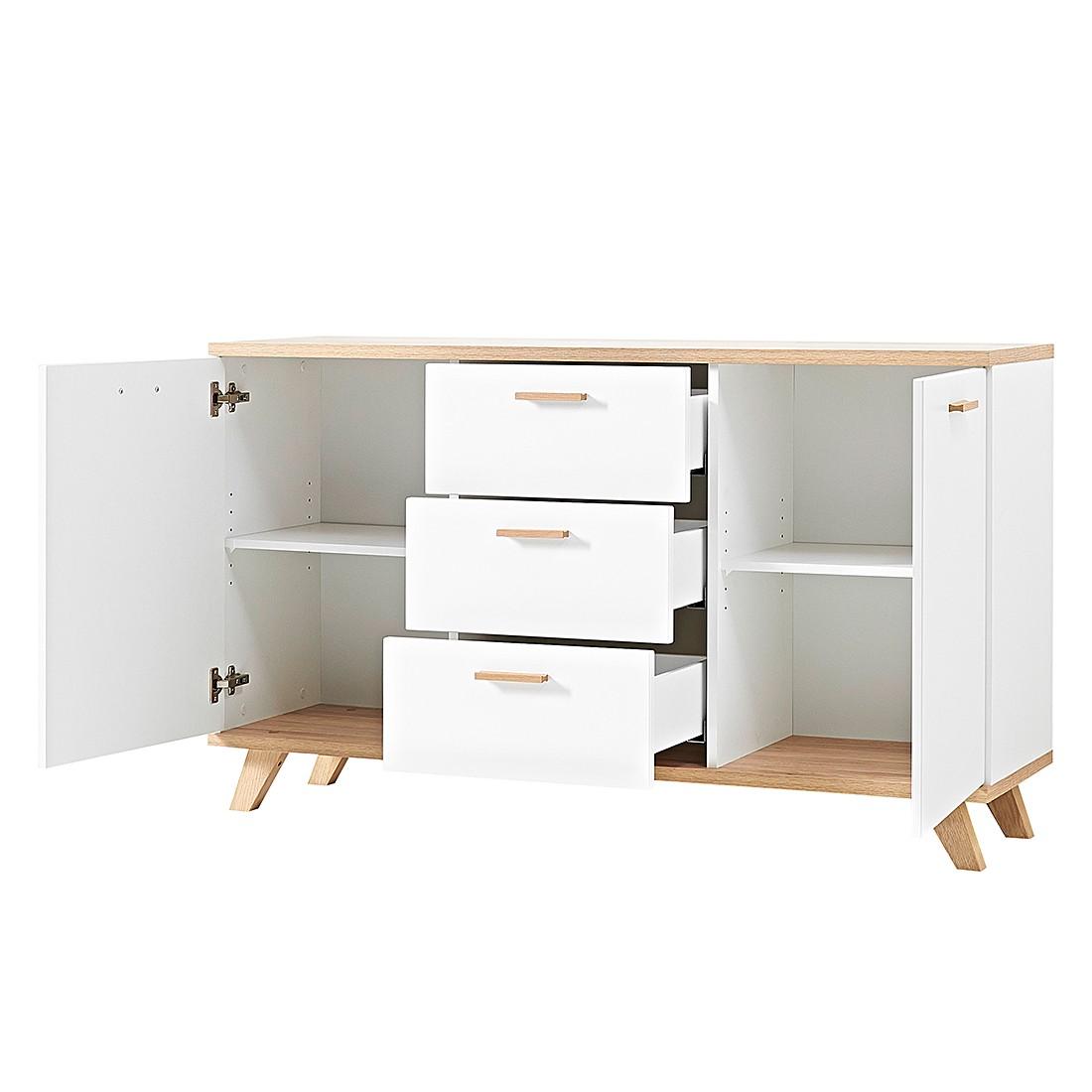 sideboard neston i matt wei eiche sanremo dekor kommode. Black Bedroom Furniture Sets. Home Design Ideas